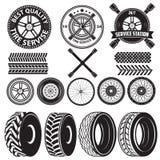 Etiqueta do serviço do pneu Imagens de Stock Royalty Free