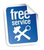 Etiqueta do serviço gratuito Fotografia de Stock