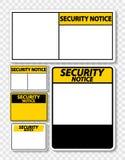 etiqueta do sinal da observação da segurança do símbolo no fundo transparente ilustração royalty free