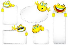 Etiqueta do smiley Imagem de Stock Royalty Free