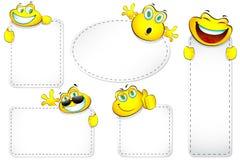 Etiqueta do smiley Imagem de Stock Royalty Free