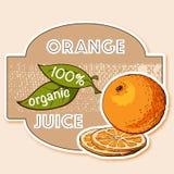 Etiqueta do suco de laranja Imagem de Stock Royalty Free