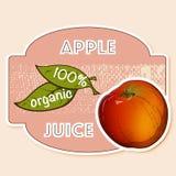 Etiqueta do suco de maçã Imagem de Stock