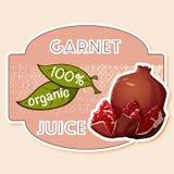 Etiqueta do suco de maçã Foto de Stock