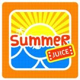 Etiqueta do suco do verão Foto de Stock Royalty Free