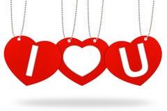 Etiqueta do Tag do Valentim do coração Fotografia de Stock Royalty Free