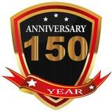 Etiqueta do th do aniversário 150 com fita Fotos de Stock