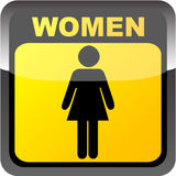 Etiqueta do toalete das mulheres Ilustração Royalty Free