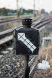 Etiqueta do trem Fotos de Stock Royalty Free