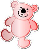 Etiqueta do urso da peluche Ilustração do Vetor