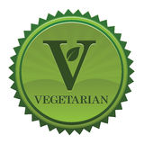 Etiqueta do vegetariano Imagem de Stock Royalty Free