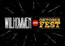 Etiqueta do vetor de Oktoberfest Boa vinda à inscrição de Oktoberfest Fotografia de Stock