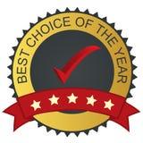 Etiqueta do vetor - a melhor escolha Fotografia de Stock Royalty Free
