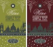 Etiqueta do vinho Imagens de Stock