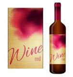 Etiqueta do vinho Foto de Stock Royalty Free