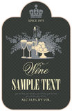 Etiqueta do vinho Fotos de Stock Royalty Free