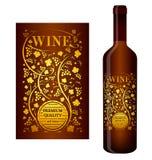 Etiqueta do vinho do vetor Fotos de Stock