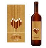 Etiqueta do vinho do vetor Imagens de Stock