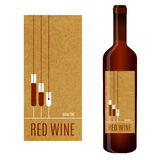 Etiqueta do vinho do vetor Imagem de Stock