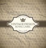 Etiqueta do vintage ilustração royalty free