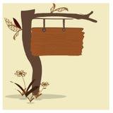 Etiqueta do vintage com árvore Imagem de Stock Royalty Free