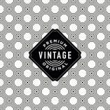 Etiqueta do vintage com fundo sem emenda do teste padrão Ideal para projetos de empacotamento Imagem de Stock