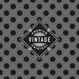 Etiqueta do vintage com fundo sem emenda do teste padrão Ideal para projetos de empacotamento Fotos de Stock
