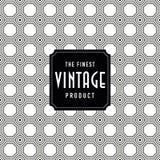 Etiqueta do vintage com fundo sem emenda do teste padrão Ideal para projetos de empacotamento Foto de Stock Royalty Free