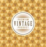Etiqueta do vintage com fundo sem emenda do teste padrão do triângulo do ouro Ideal para projetos de empacotamento Imagem de Stock