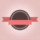 Etiqueta do vintage com às bolinhas ilustração stock