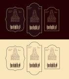 Etiqueta do vintage do vetor para a cerveja Imagens de Stock Royalty Free