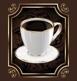 Etiqueta do vintage para envolver o café Imagens de Stock Royalty Free