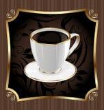 Etiqueta do vintage para envolver o café Imagem de Stock