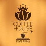 Etiqueta dos feijões de café do vetor Fundo do vintage ilustração royalty free