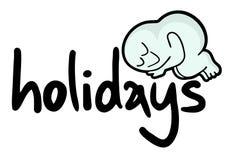 Etiqueta dos feriados Fotos de Stock Royalty Free