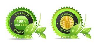 Etiqueta dos produtos naturais Imagens de Stock