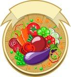 Etiqueta dos vegetais com fita Foto de Stock