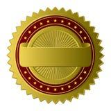 Etiqueta dourada Foto de Stock