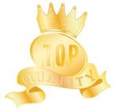 Etiqueta dourada da qualidade superior Imagem de Stock
