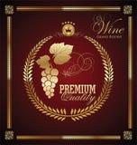 Etiqueta dourada do vinho Foto de Stock Royalty Free