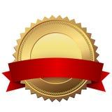 Etiqueta dourada vazia da qualidade ilustração do vetor