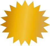 Etiqueta dourada vazia para a etiqueta da venda Ilustração Royalty Free