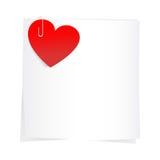 Etiqueta e corações vermelhos Imagens de Stock