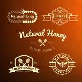 Etiqueta e insignia de la abeja Fotos de archivo
