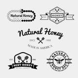 Etiqueta e insignia de la abeja Fotos de archivo libres de regalías