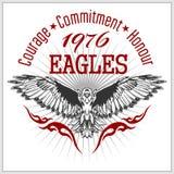 Etiqueta Eagle - emblema retro del vintage Imágenes de archivo libres de regalías