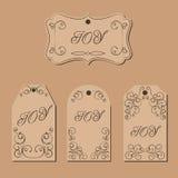 Etiqueta elegante do presente do redemoinho do victorian Foto de Stock Royalty Free