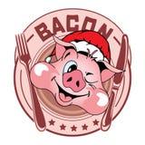Etiqueta em um ano novo no estilo dos desenhos animados imagens de stock royalty free