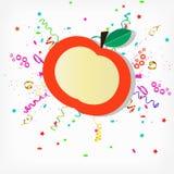 Etiqueta em uma maçã Imagem de Stock Royalty Free