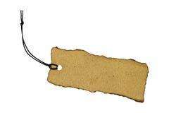 Etiqueta en blanco atada con la cadena. Imagen de archivo libre de regalías